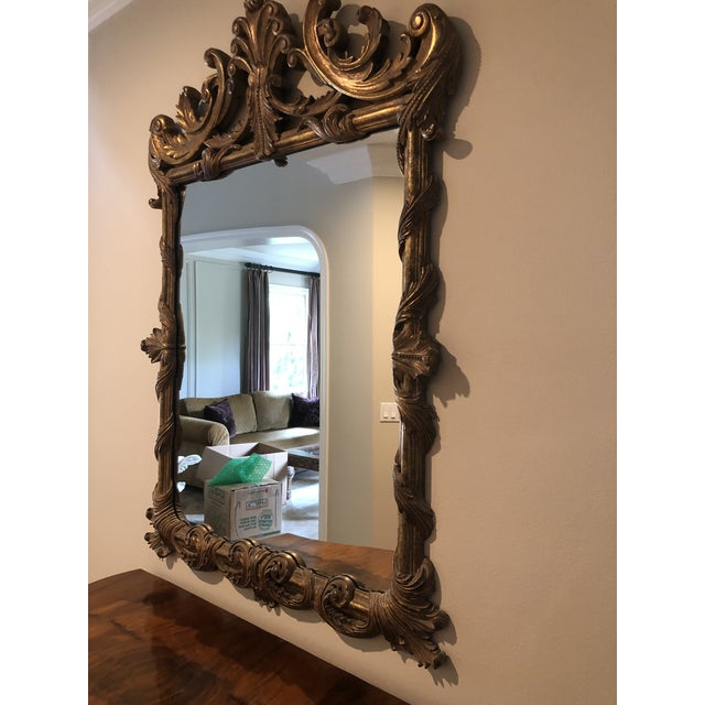 Antique Burl Wood Bombay Chest With John Richard Mirror For Sale - Image 9 of 11