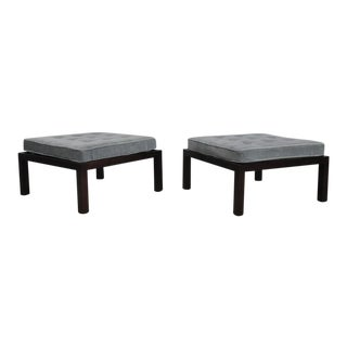 1950s Dunbarby Edward Wormley Large Scale Ottomans - a Pair For Sale