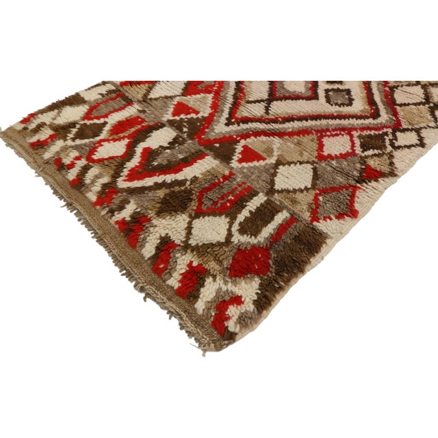 Islamic Moroccan Berber Azilal Rug With Tribal Style - 3′ × 6′7″ For Sale - Image 3 of 9