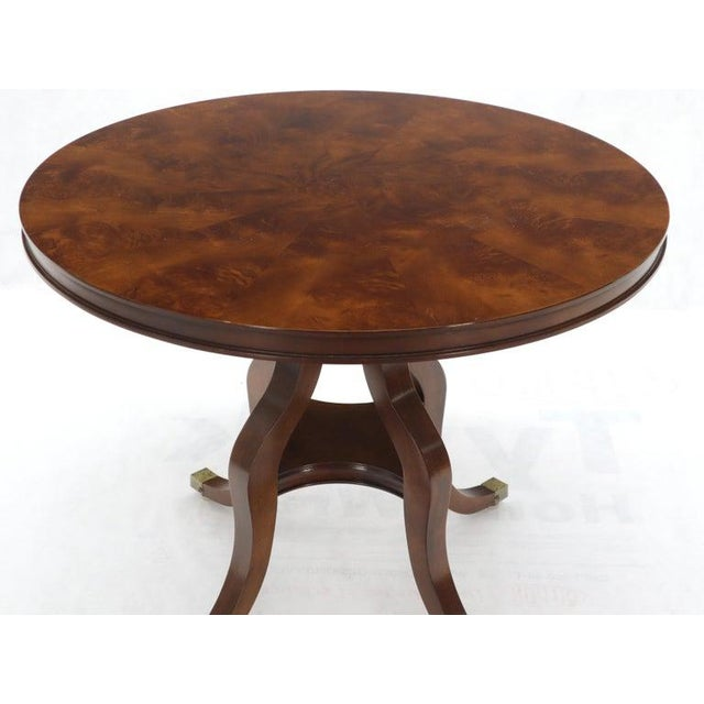 Flame Mahogany Round Top Lamp Table by Century For Sale - Image 9 of 13