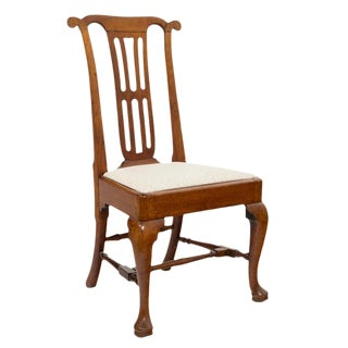 18th Century George II Red Walnut Chair For Sale