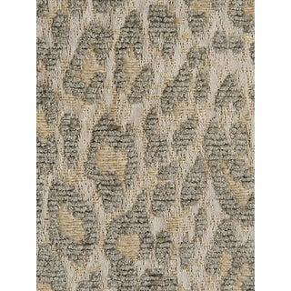 Sample, Scalamandre Leopard Castle Gray Fabric For Sale