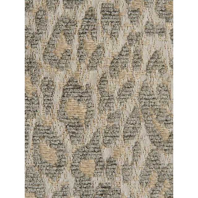 Sample, Scalamandre Leopard Castle Gray Fabric For Sale