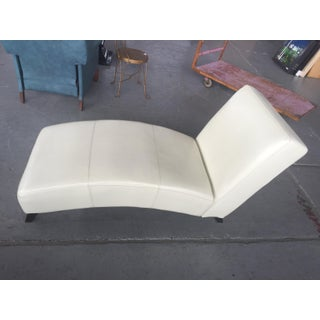 White Leather Chaise Lounge Preview