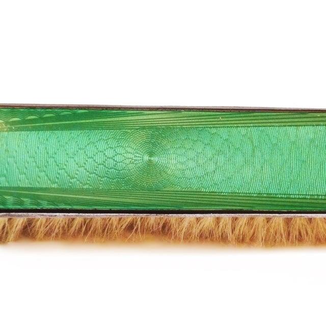 Art Deco Green Enamel Vanity Brushes - Set of 4 - Image 5 of 5