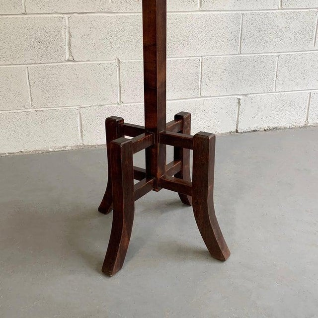 Arts & Crafts Standing Maple Coat Rack For Sale In New York - Image 6 of 7