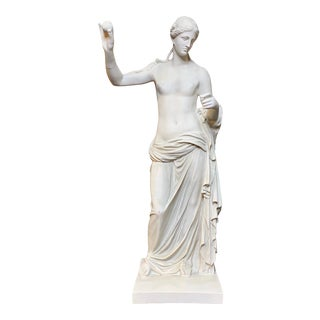 Grand Tour Style Classical Plaster Female Statue For Sale