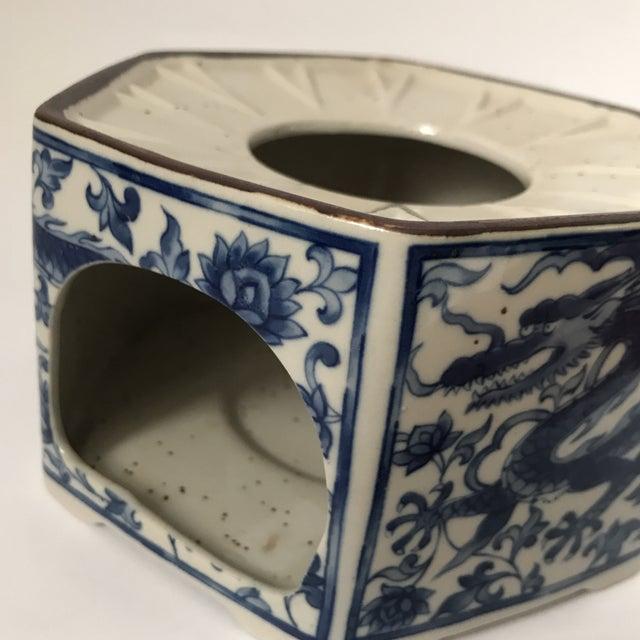 Blue Blue & White Porcelain Vessel For Sale - Image 8 of 11