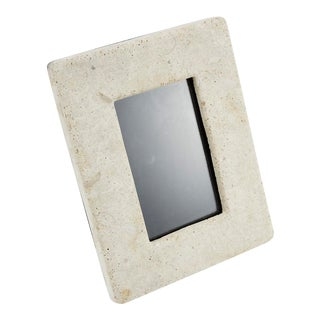 1990s Vintage Tessellated Matte Mactan Stone Picture Frame For Sale