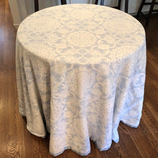 Custom Brunschwig & Fils Marquesas Sea Linen Skirted Tables Preview