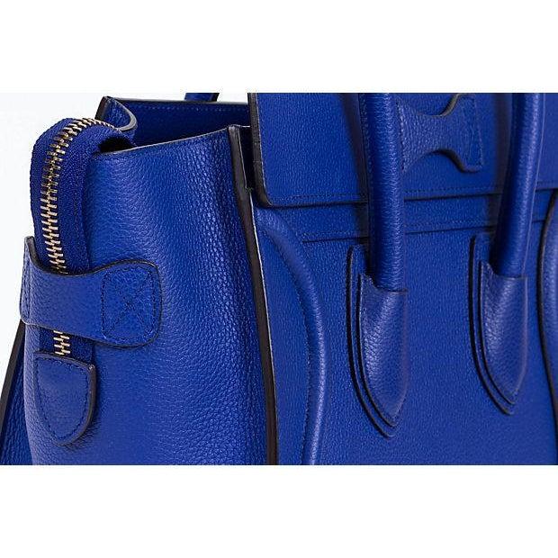 Celine New Indigo Micro Luggage Bag For Sale - Image 4 of 10