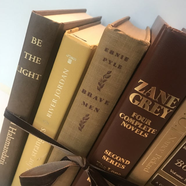 Mid 20th Century 20th Century Americana Rich Gold and Brown Book Bundle - Set of 6 For Sale - Image 5 of 12