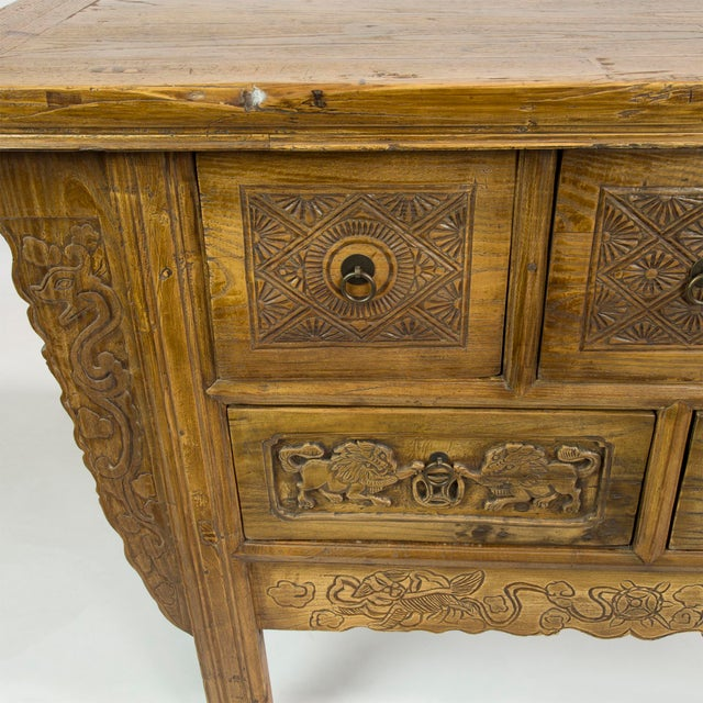 Carved Antique Five-Drawer Sideboard - Image 4 of 4