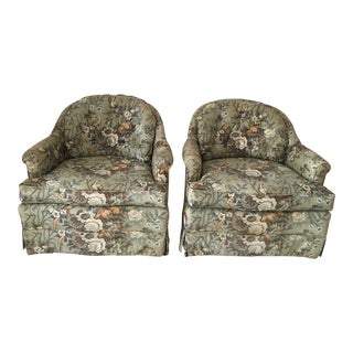 Henredon Slipper Armchairs - A Pair
