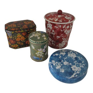 Chinoiserie Tea Canisters-4 For Sale