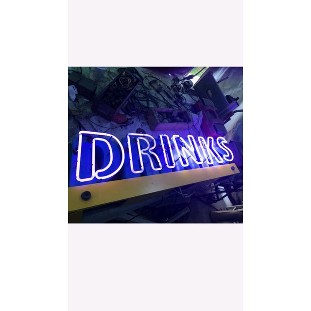 1980s Neon Drinks Sign For Sale - Image 4 of 4