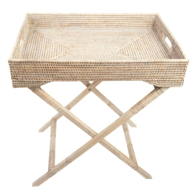 Artifacts Rattan Butler Table For Sale In Houston - Image 6 of 6