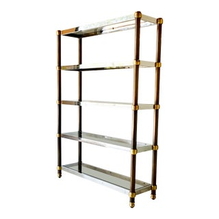 French Five Tier Copper, Brass and Chrome Etagere 1970s For Sale
