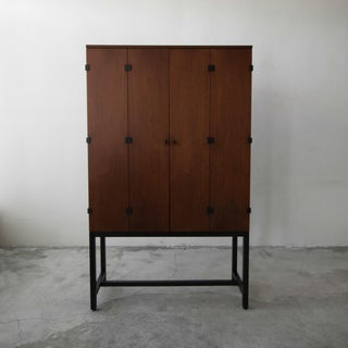 Mid Century Walnut Armoire Cabinet by Milo Baughman for Directional Preview