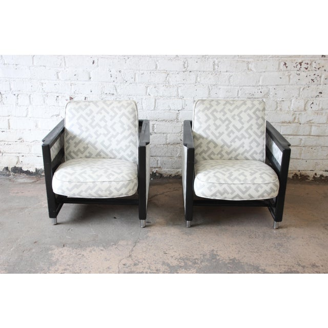 Mid-Century Modern Edward Wormley for Dunbar Rocking Lounge Chairs - a Pair For Sale - Image 3 of 10