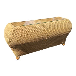 Contemporary Rattan Bombay Console For Sale