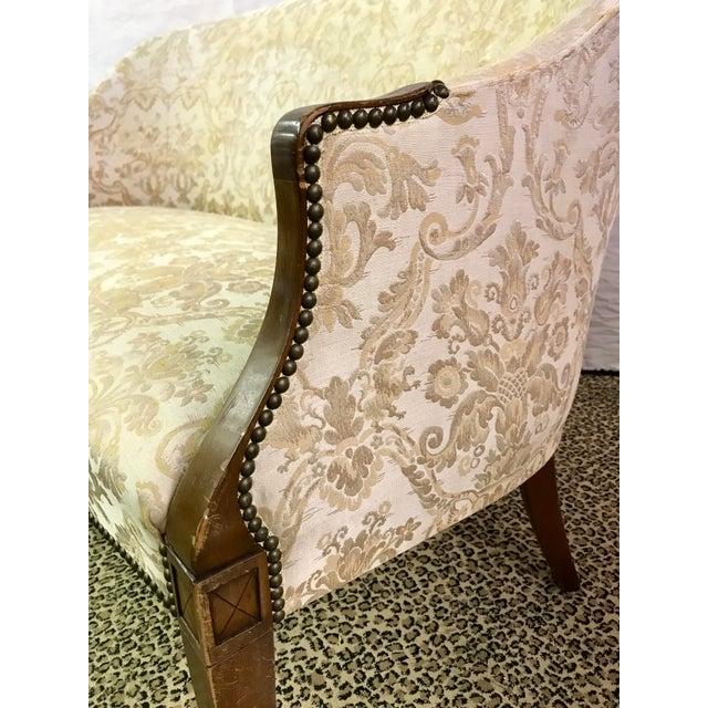 Vintage Neoclassical Settee With Nailhead Detail - Image 5 of 11
