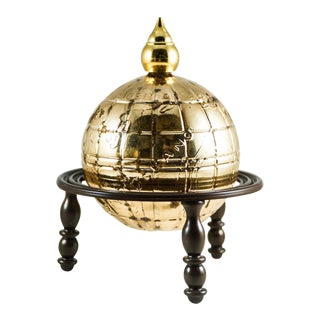 1969 Avon Glass Globe After Shave Decanter For Sale