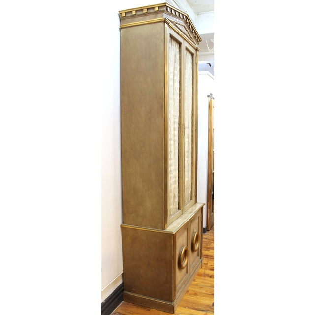 Monumental Neoclassical Revival Style Pedimented Wood Cabinets - a Pair For Sale - Image 4 of 13
