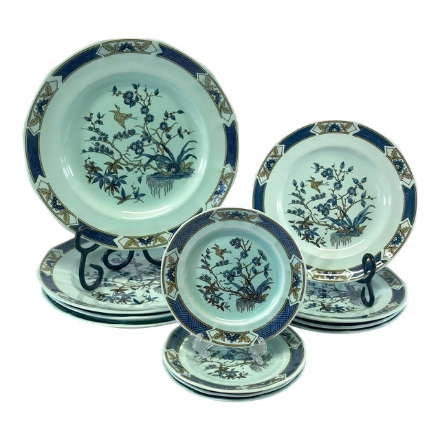 Wedgwood Ironstone Ming Toi Dinnerware, Set of 12 For Sale