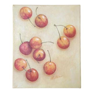 Signed Cherry Painting