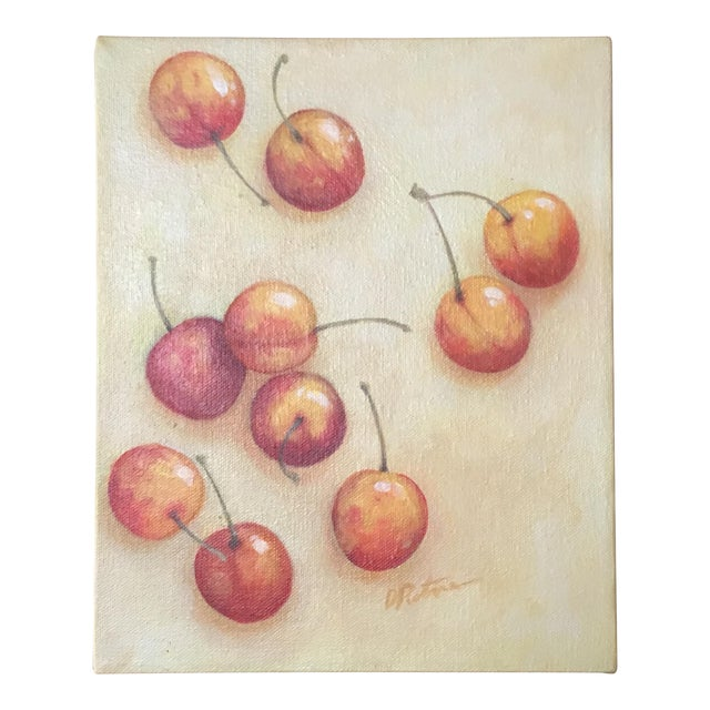 Signed Cherry Painting For Sale
