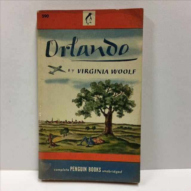 Beautiful unread softcover copy of Orlando by Virginia Woolf. Penguin Books, 1946 216 pages. Minor edge and shelf wear,...