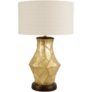Mid-Century Textured Overlay Lamp For Sale
