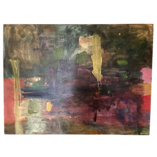 "Ellen Reinkraut ""Starlight"" Large Original Abstract Painting For Sale"