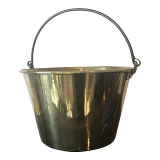 Antique Brass Bucket For Sale