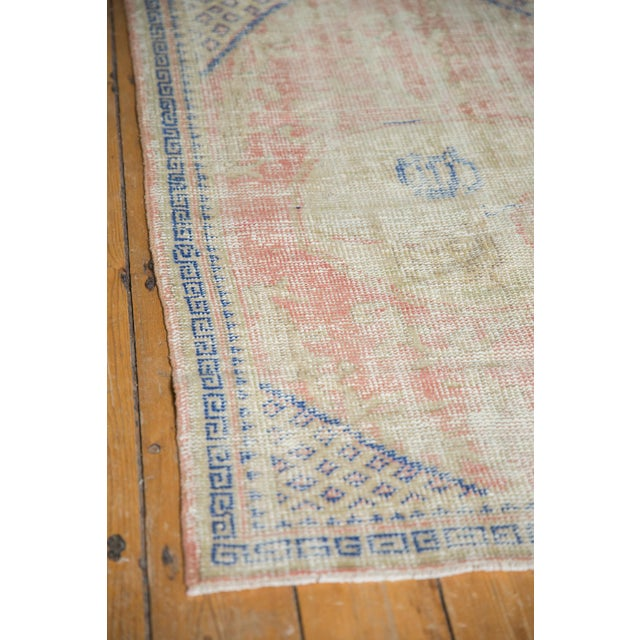 """Cotton Vintage Distressed Oushak Square Rug - 2'10"""" X 4' For Sale - Image 7 of 9"""
