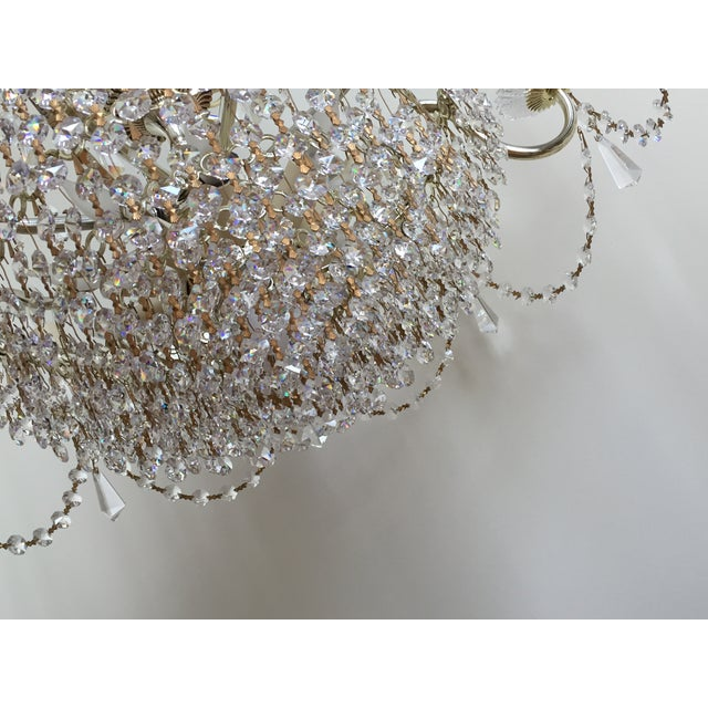 Contemporary Schonbek Swarovski Strass Crystal Chandelier For Sale - Image 3 of 7