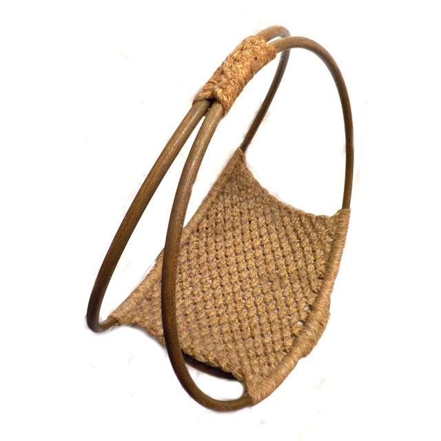 Mid-Century Modern Minimalist Wool Basket - Image 4 of 5