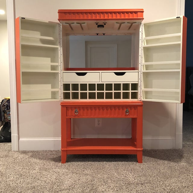 Art Deco Orange Painted Bar Cabinet For Sale In Washington DC - Image 6 of 13