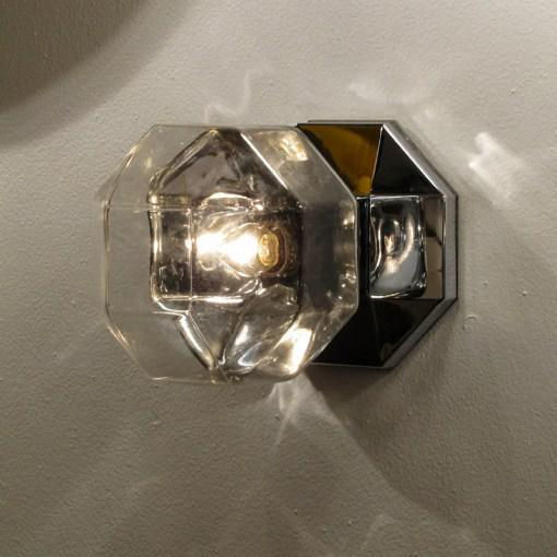 Motoko Ishii for Staff Leuchten Modulare Chrome and Glass Light For Sale In Los Angeles - Image 6 of 10