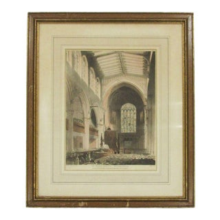 19th Century Antique Thomas Rowlandson Microcosm of London St Margaret's Westminster Etching For Sale