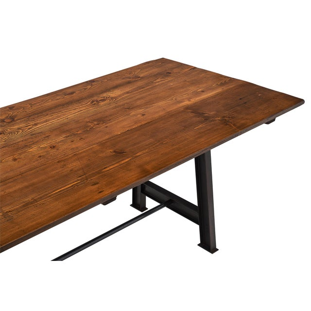 """1930s """"Atelier"""" French Farm Table For Sale - Image 5 of 10"""