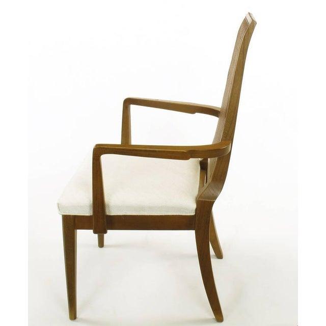 Sleek, circa 1950s Modern Walnut and Cane Dining Chairs - Image 6 of 10