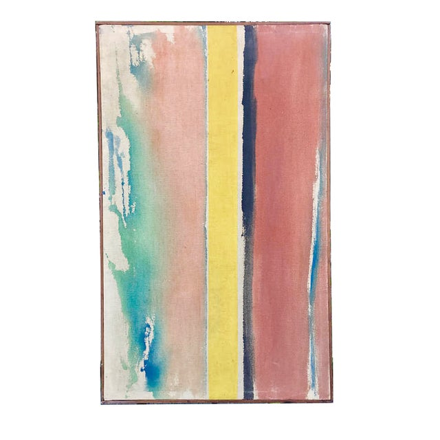 Linear Abstract Painting For Sale - Image 4 of 4