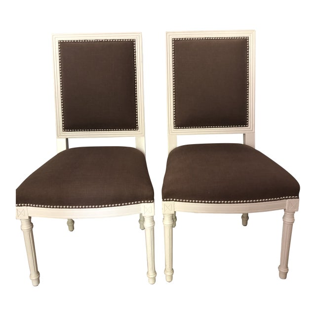 Jonathan Adler Dining Chairs - a Pair For Sale