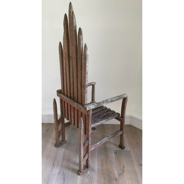 Adirondack Early 20th Century American Folk Art Chair For Sale - Image 3 of 4