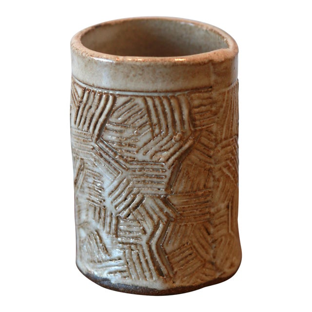 Hand Built Ceramic Vessel For Sale