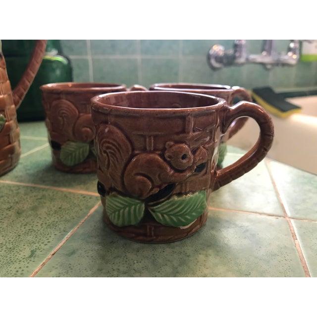 Vintage Squirrel Tea Set Japanese Pottery For Sale - Image 4 of 13
