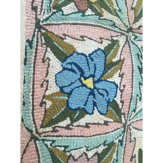 Blue Treasure Chest Mutual Hand-Hooked Rug - 9' x 12' For Sale - Image 8 of 11