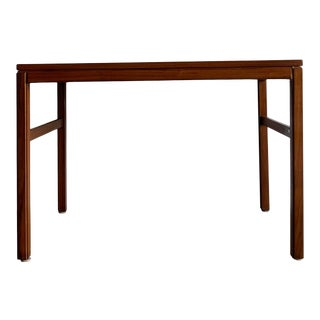 1960s Motif Mid-Century Modern Solid Walnut Side Table For Sale